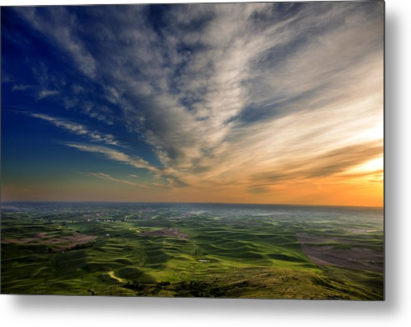 Palouse Sunset Metal Print