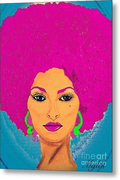 Pam Grier Bold Diva C1979 Pop Art Metal Print