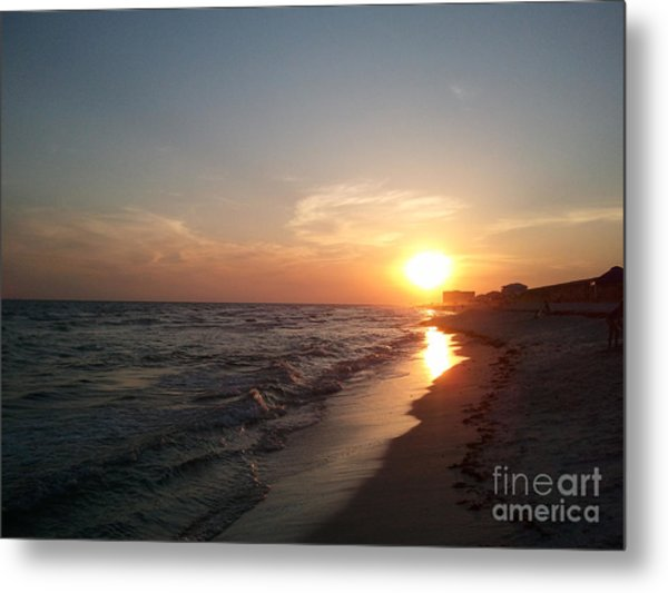 Panama City Beach Sunset Metal Print