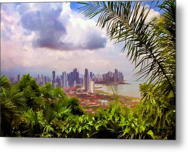 Panama City From Ancon Hill Metal Print