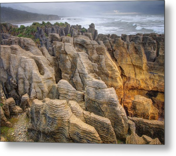 Pancake Rock Metal Print