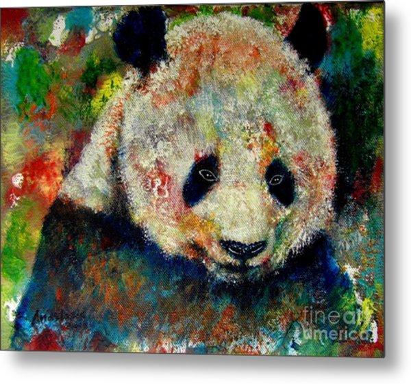 Panda Bear Metal Print by Anastasis  Anastasi