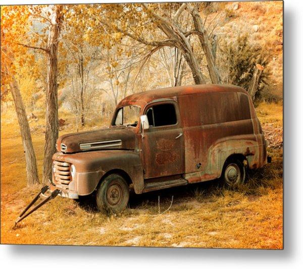 Panel Truck Metal Print by Leland D Howard