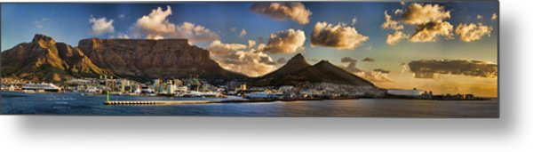 Panorama Cape Town Harbour At Sunset Metal Print