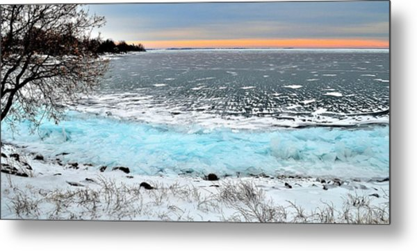Panorama Freeze - Horsey Bay - Kingston - Canada Metal Print