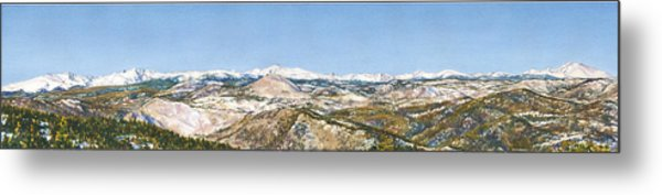 Panorama From Flagstaff Mountain Metal Print by Anne Gifford