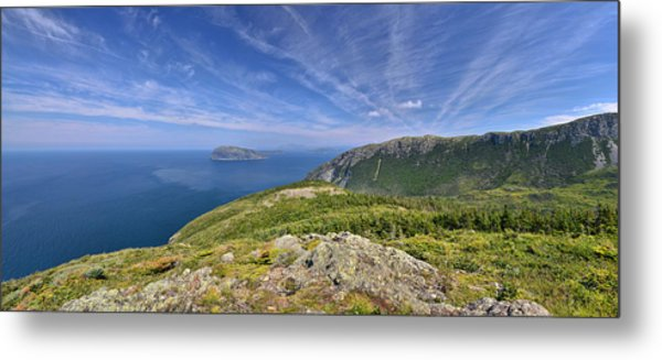 Panorama Of The Outer Bay Of Islands, Newfoundland Metal Print