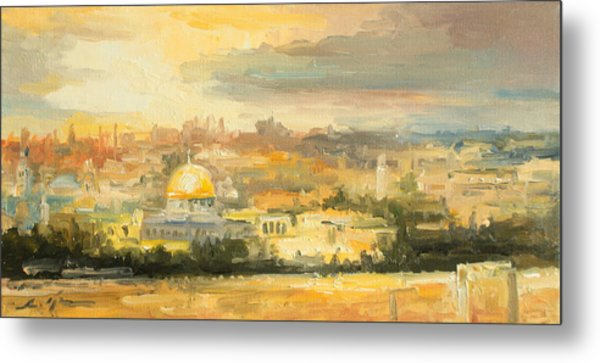Panorama Of Jerusalem Metal Print