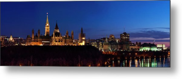 Panorama Of Parliament Hill, Ottawa Metal Print