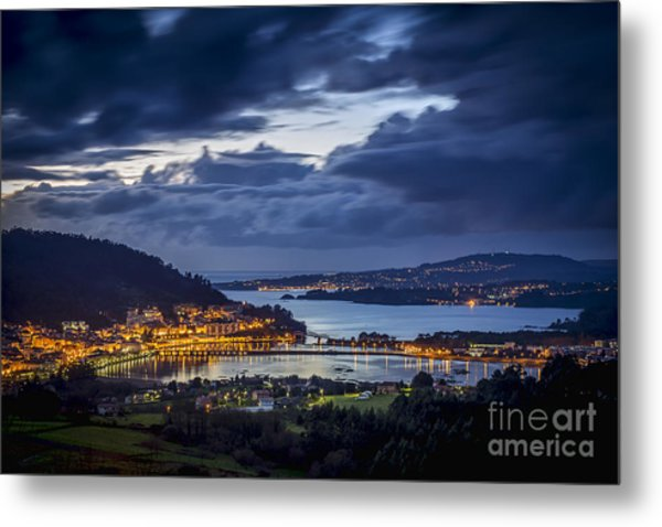Metal Print featuring the photograph Panorama Of Pontedeume From Cabria Noguerosa Galicia Spain by Pablo Avanzini