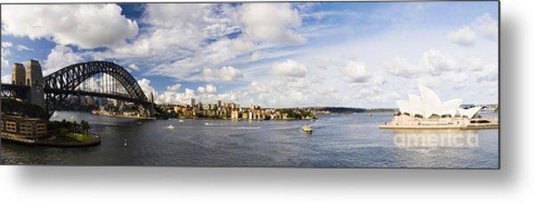 Panorama Of Sydney Harbor Metal Print