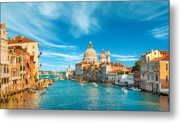 Panorama Of The Basilica Santa Maria Della Salute Metal Print