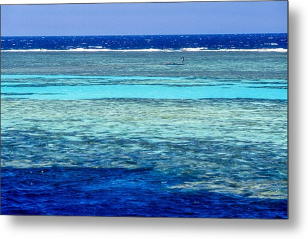 Panorama Reef Metal Print