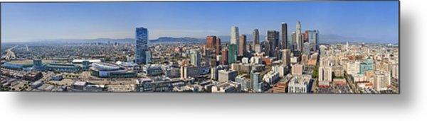 Panoramic Los Angeles Metal Print