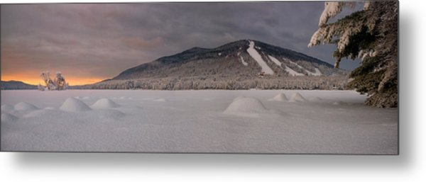 Panoramic Of Shawnee Peak And Moose Pond Metal Print