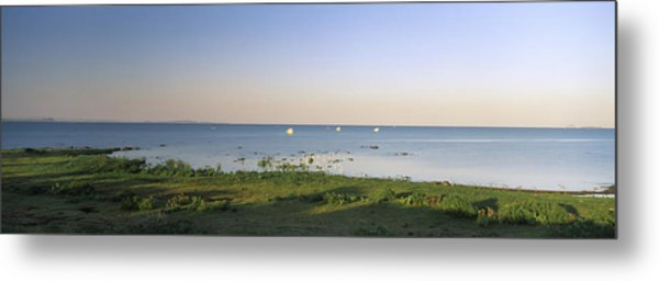 Panoramic View Of A Lake, Lake Metal Print