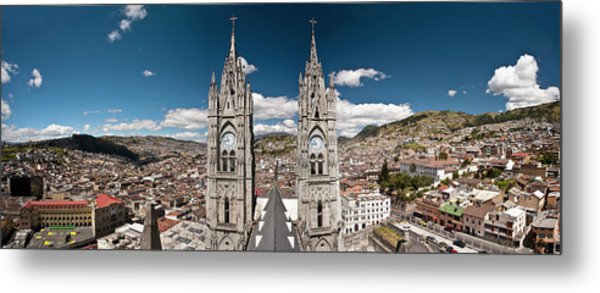 Panoramic View Of The Bell Towers Metal Print