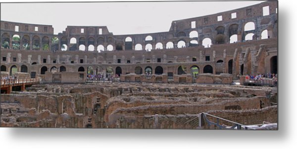 Panoramic View Of The Colosseum Metal Print