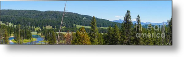 Panoramic Yellowstone Landscape Metal Print