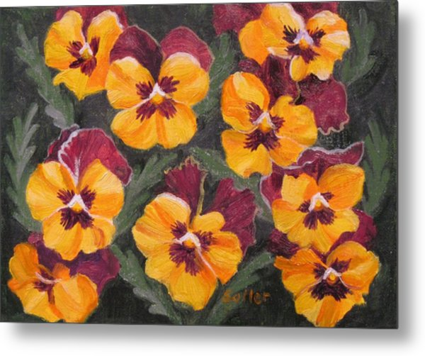 Pansies Are For Thoughts Metal Print