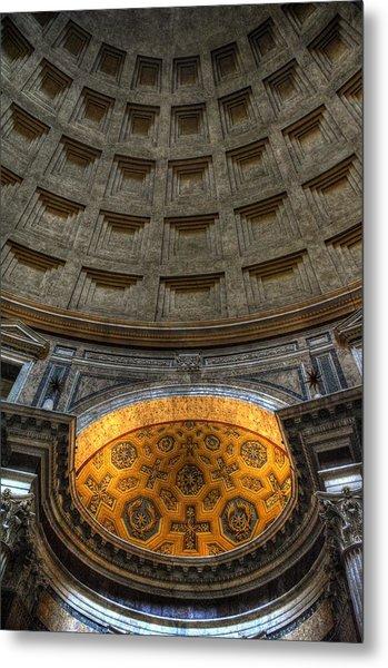 Pantheon Ceiling Detail Metal Print