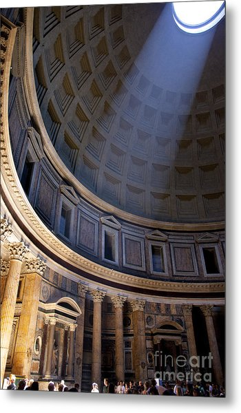 Metal Print featuring the photograph Pantheon Interior by Brian Jannsen
