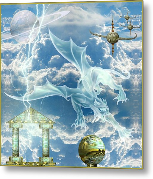 Panthera Draconis Realm Metal Print