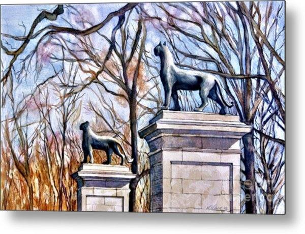 Panthers At The Gate Metal Print