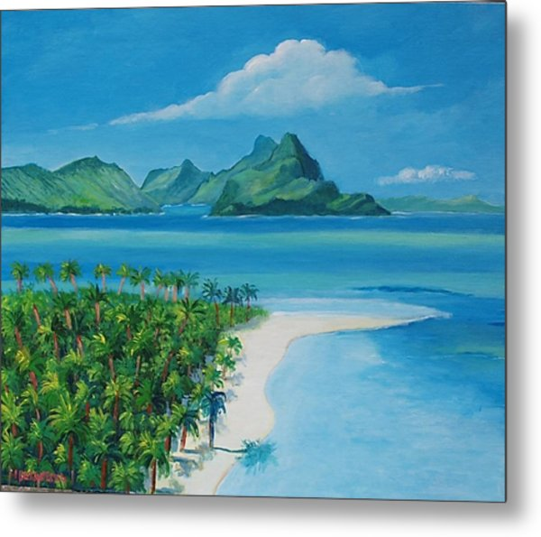 Papeete Bay In Tahiti Metal Print