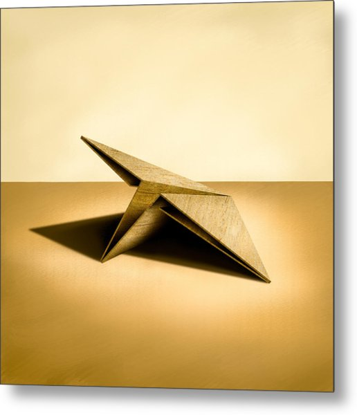 Paper Airplanes Of Wood 7 Metal Print