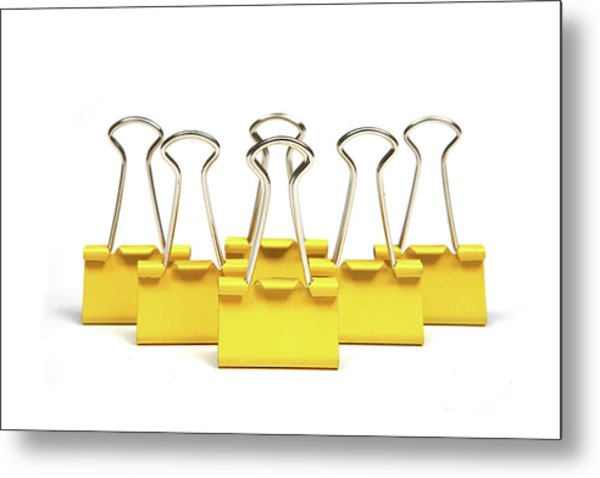 Paper Clips, Close Up Metal Print by Visage