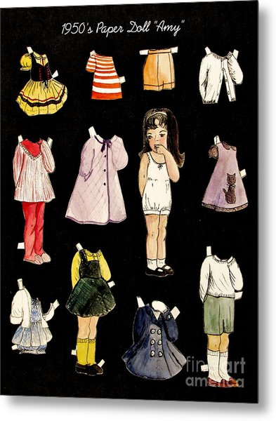Paper Doll Amy Metal Print