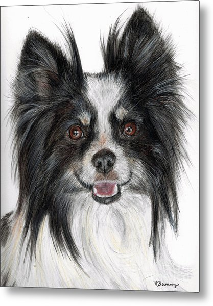Papillon Painting Metal Print