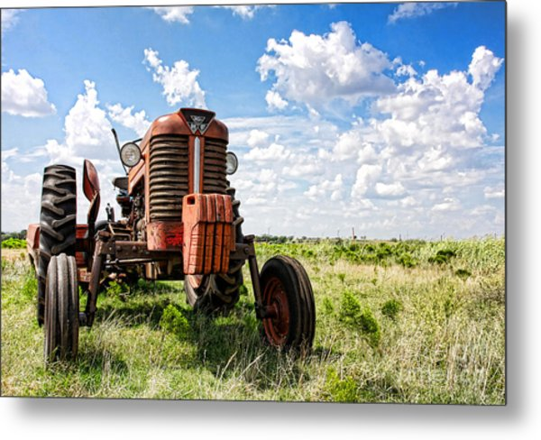 Pappa's Tractor Metal Print