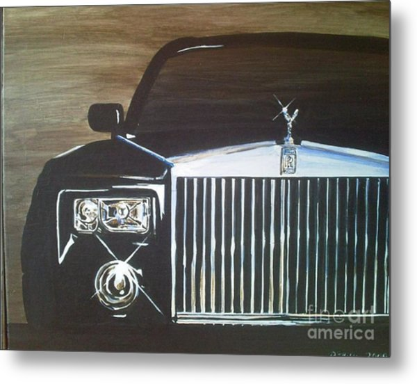 Par De Elegance Rolls Royce Phantom Metal Print by Richard John Holden RA
