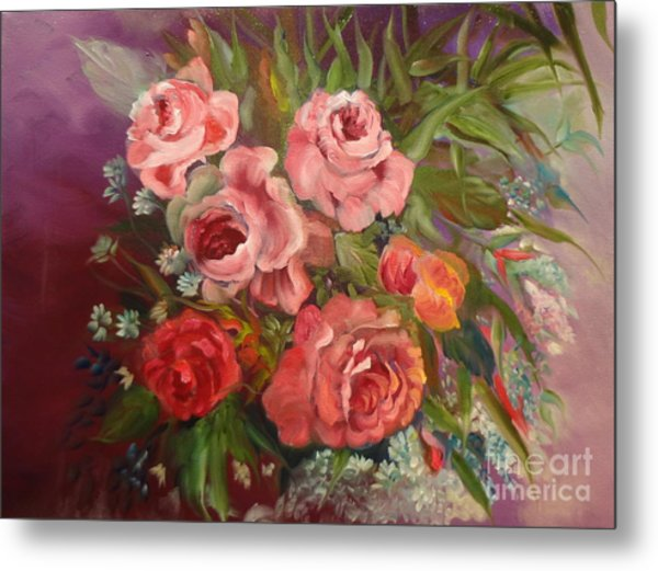 Parade Of Roses Metal Print
