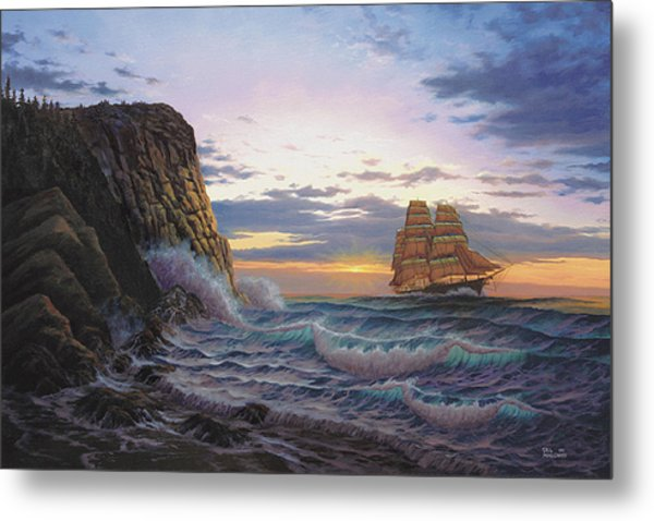 Paradise Cove And The Lightning  Metal Print