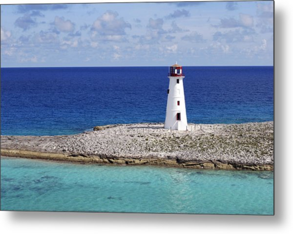 Paradise Lighthouse Metal Print