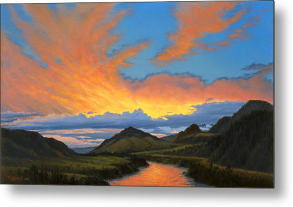 Paradise Valley Sunset  Metal Print