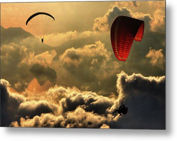 Paragliding 2 Metal Print