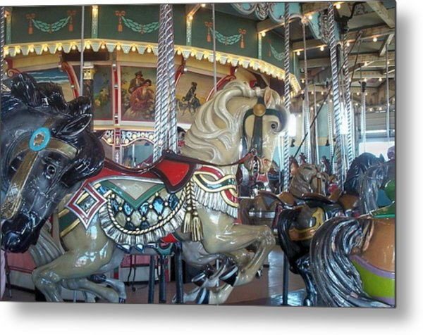 Paragon Carousel Nantasket Beach Metal Print