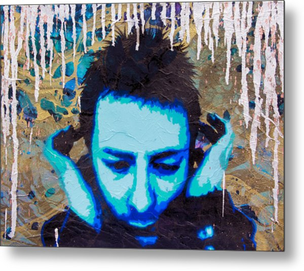 Paranoid Android Re-mix Metal Print by Bobby Zeik