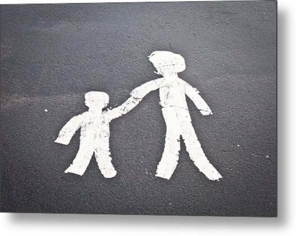 Parent And Child Marking Metal Print