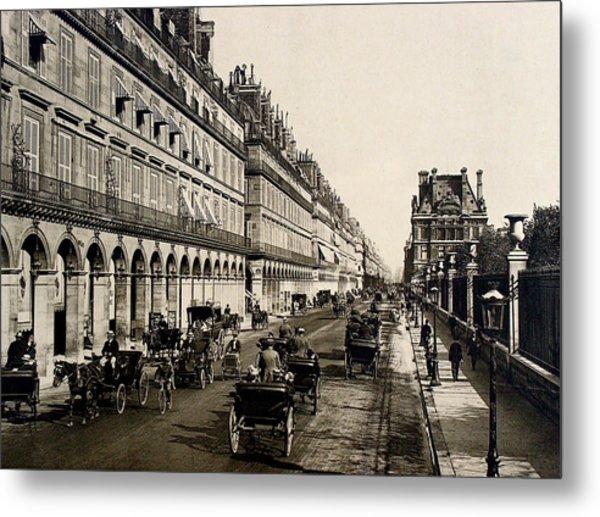 Paris 1900 Rue De Rivoli Metal Print