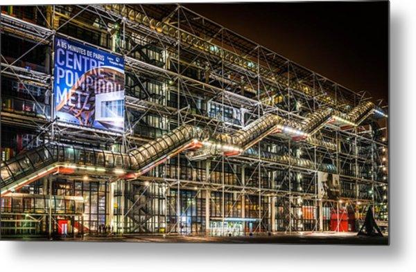 Paris Centre Pompidou Metal Print by Tomas Horvat