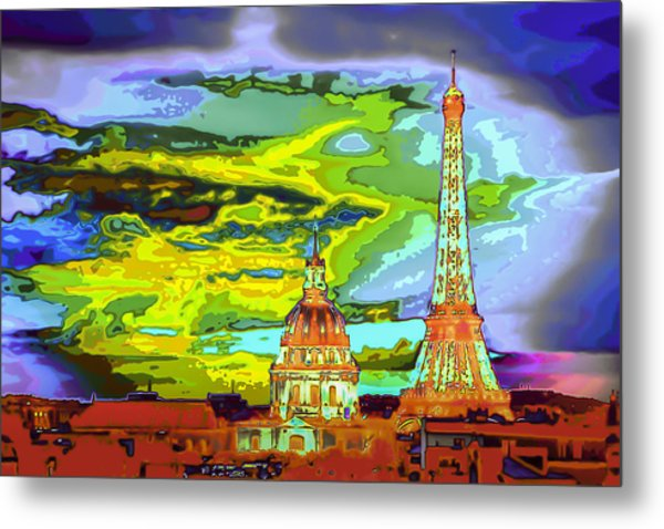 Paris - City Of Lights Metal Print