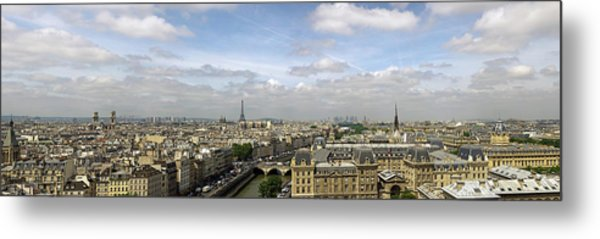Paris City Skyline Metal Print by Vii-photo