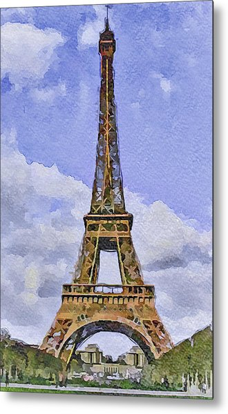 Paris Eiffel Tower 2 Metal Print by Yury Malkov