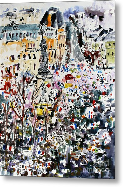 Paris France January 11th 2015 Metal Print