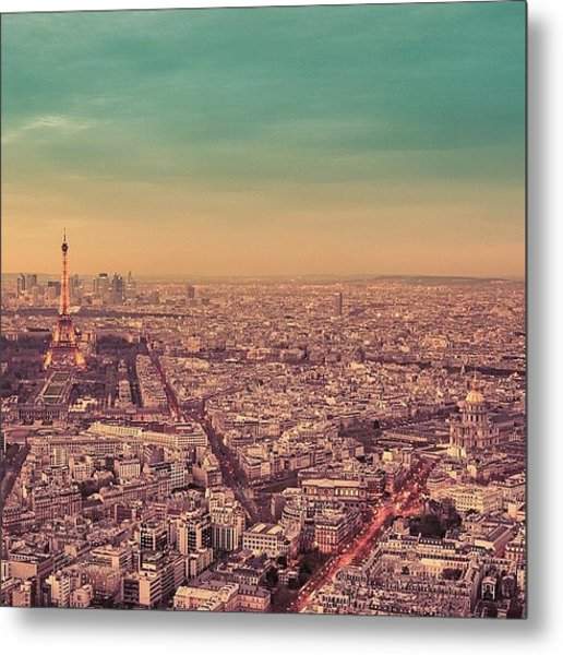Paris Is Everything I Expected And So Metal Print